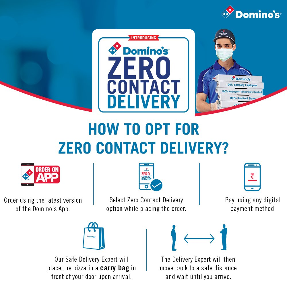 Zero Contact Delivery by Domino's Pizza