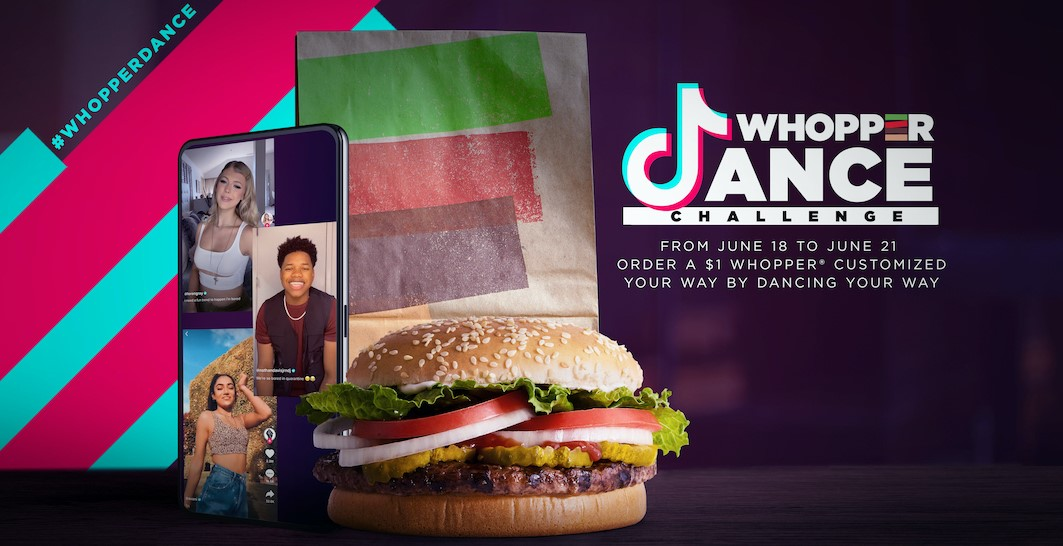 Burger King's $1 Whopper Dance Challenge with TikTok by Createsyou